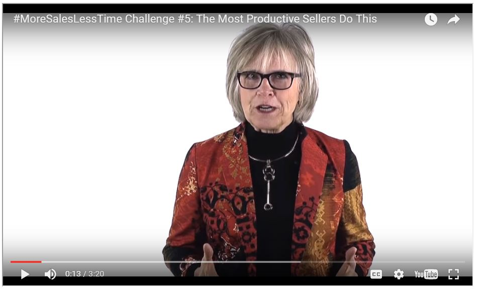 #MoreSalesLessTime Challenge #5: The Most Productive Sellers Do This